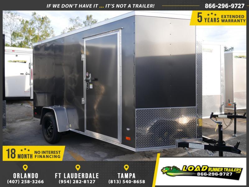 *E4B* 6x12 Cargo Enclosed Trailer Single Axle Trailers 6 x 12 | EV6-12S3-R