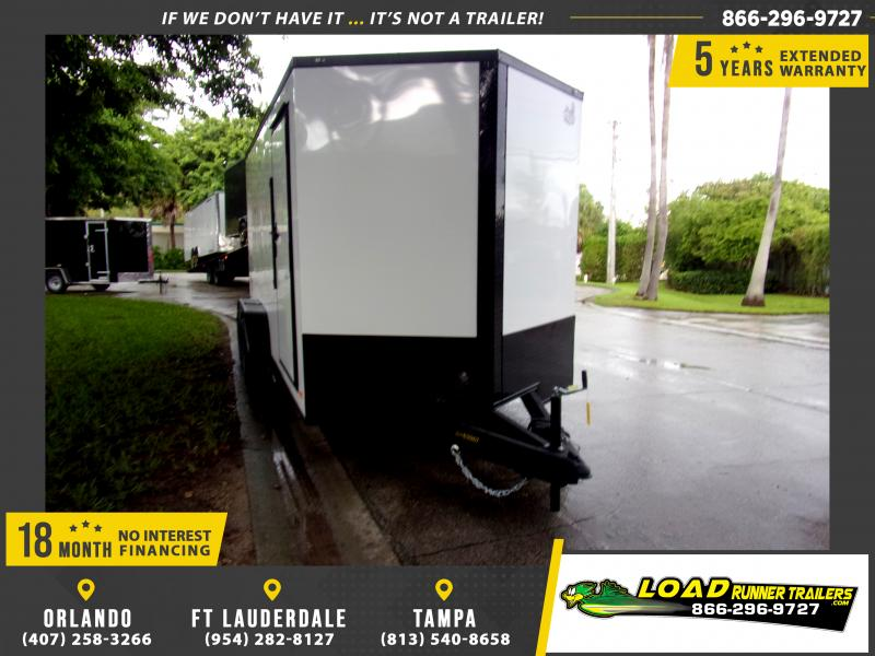*111893* 7x16 Enclosed Cargo Trailer |LRT Tandem Axle Trailers 7 x 16