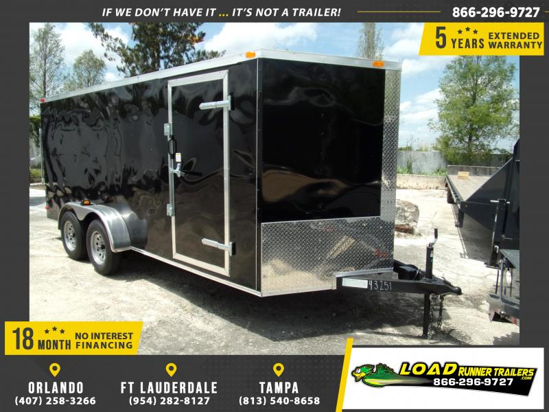 *108849* 7x16 Enclosed Cargo Trailer  LRT Tandem Axle Trailers 7 x 16