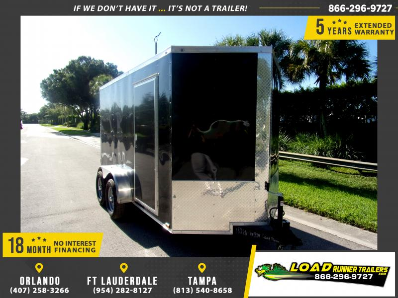 *117454* 6x12 Enclosed Cargo Trailer |LRT Tandem Axle Trailers 6 x 12