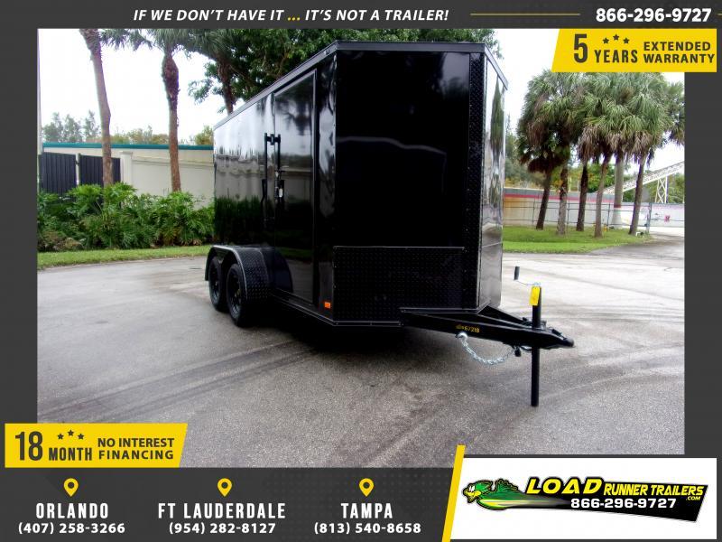 *112607* 6x12 Enclosed Cargo Trailer  LRT Tandem Axle Trailers 6 x 12
