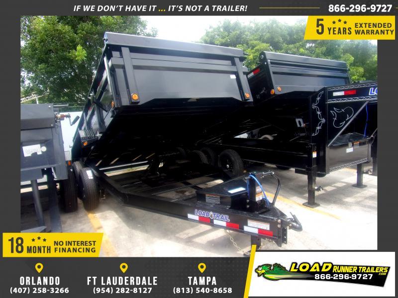 *116379* 7x14 Dump Trailer |LRT Tandem Axle Trailers 7 x 14