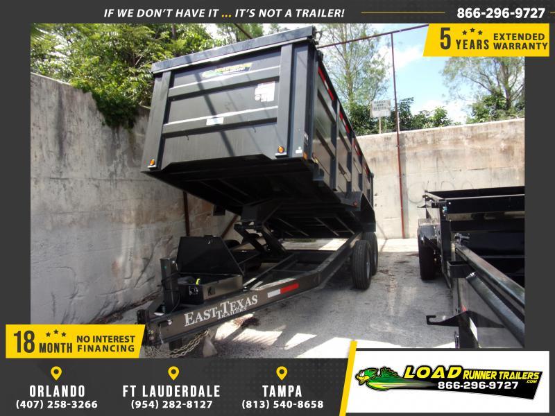 *114726* 7x16 Dump Trailer |LRT Tandem Axle Trailers 7 x 16