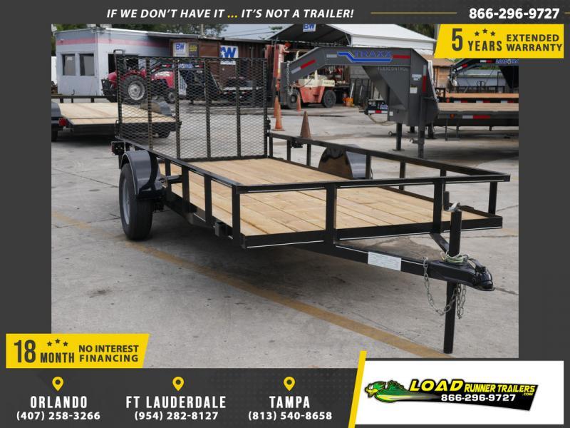 *108020* 6x14 Utility Lawn ATV Multipurpose Trailer  LRT Haulers & Trailers 6 x 14