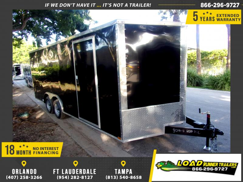 *118005* 8.5x20 Enclosed Cargo Trailer  LRT Tandem Axle Trailers 8.5 x 20