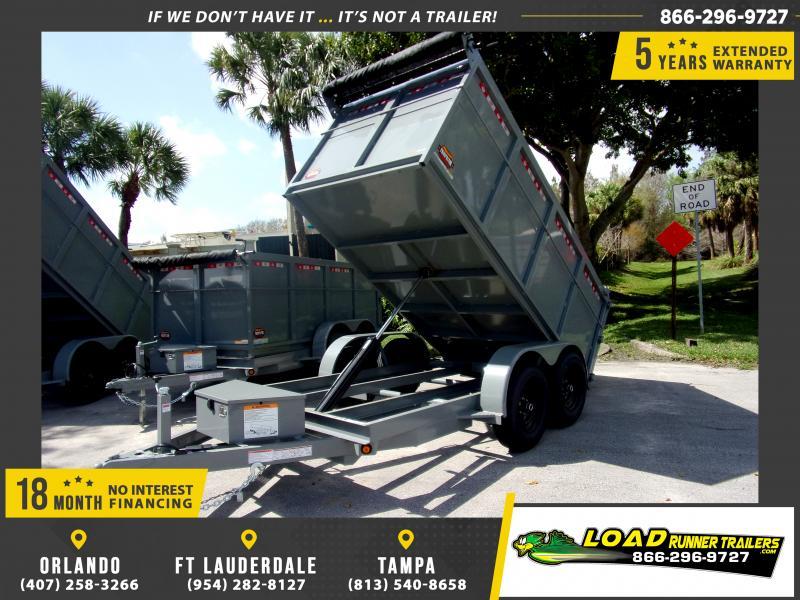 *113921* 6x12 4' Walls Dump Trailer |LRT Dumps and Trailers 6 x 12