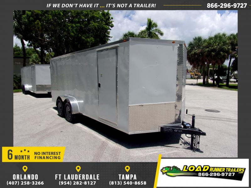 *116326* 7x18 Enclosed Cargo Trailer with Barn Doors  LRT Tandem Axle Trailers 7 x 18