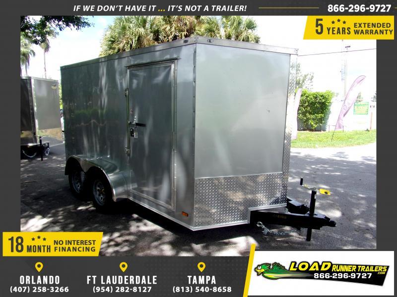 *114828* 7x12 Enclosed Cargo Trailer  LRT Tandem Axle Trailers 7 x 12