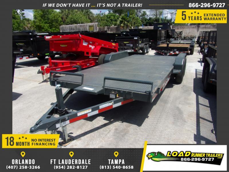 *115059* 7x20 Steel Deck Car Hauler Trailer |LRT Haulers & Trailers 7 x 20