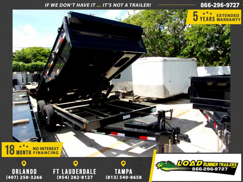 *117104* 7x14 Dump Trailer |LRT Tandem Axle Trailers 7 x 14
