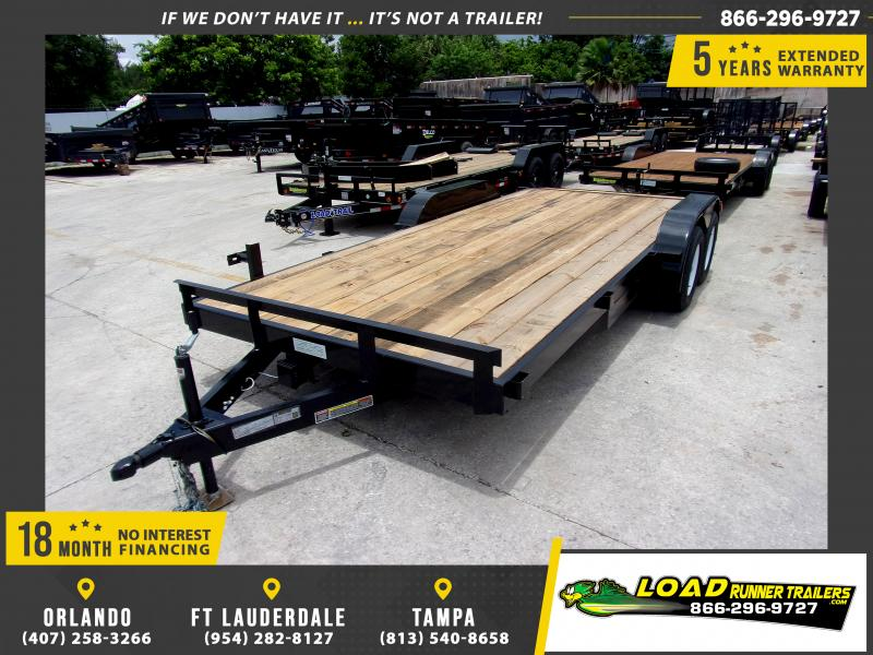 *116651* 7x18 Car Trailer  LRT Tandem Axle Trailers 7 x 18