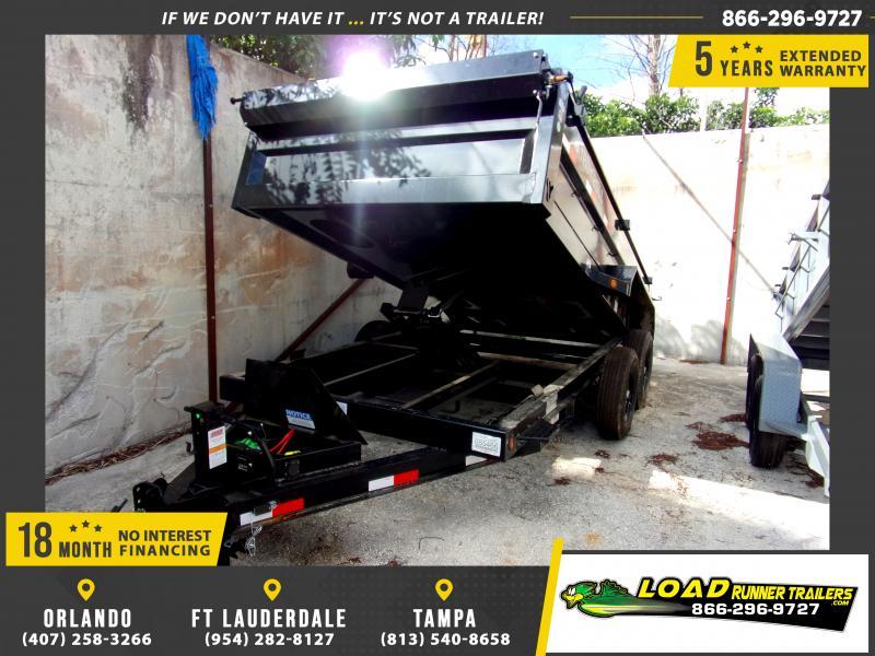 *115438* 7x14 Dump Trailer  LRT Tandem Axle Trailers 7 x 14