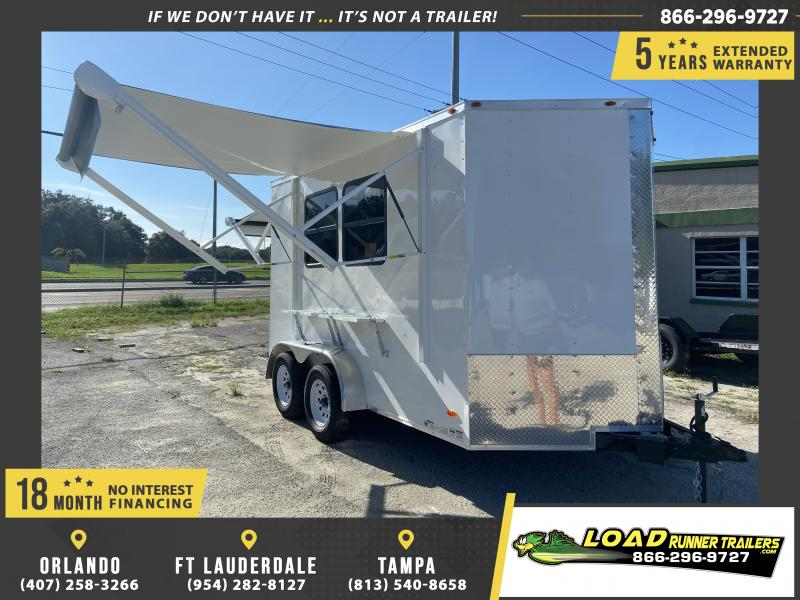 *109462* 7x12 Custom Office/Concession Trailer  Package 7 x 12