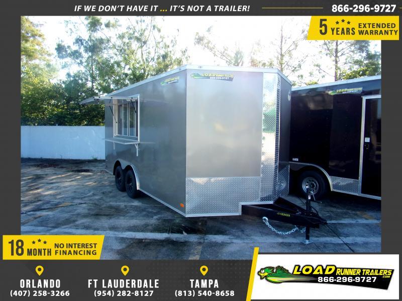 *110695* 8.5x16 Enclosed Cargo Trailer W/Concession Window 8.5 x 16