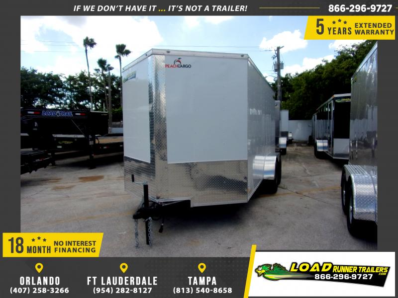 *112433* 7x14 Enclosed Cargo Trailer |LRT Tandem Axle Trailers 7 x 14