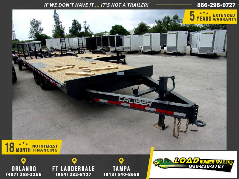 *116703* 8.5x20 Flatbed Deck Over Trailer  LRT Tandem Axle Trailers 8.5 x 20