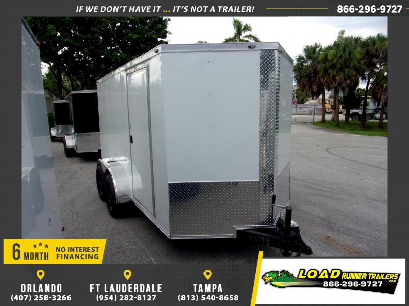 *116517* 6x12 Enclosed Cargo Trailer |LRT Tandem Axle Trailers 6 x 12