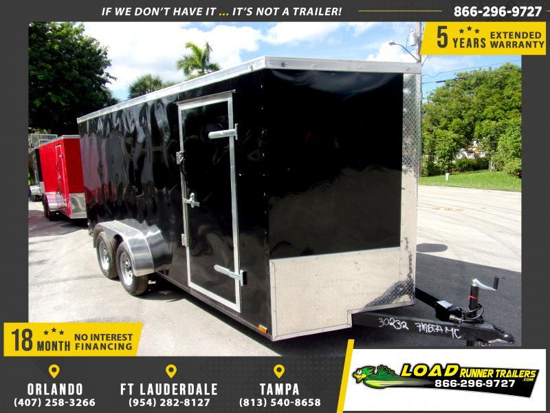 *118021* 7x16 Enclosed Cargo Trailer  LRT Tandem Axle Trailers 7 x 16