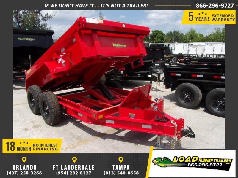 *114407* 5x10 Dump Trailer  LRT Tandem Axle Trailers 5 x 10