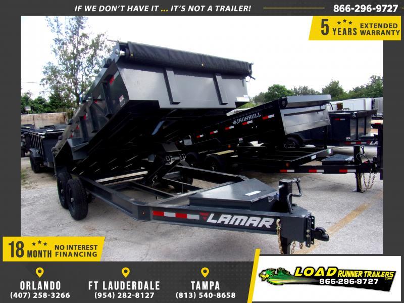 *117266* 7x16 Dump Trailer |LRT Tandem Axle Trailers 7 x 16