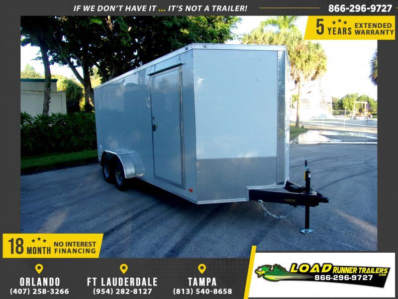 *118131* 7x16 Enclosed Cargo Trailer |LRT Tandem Axle Trailers 7 x 16