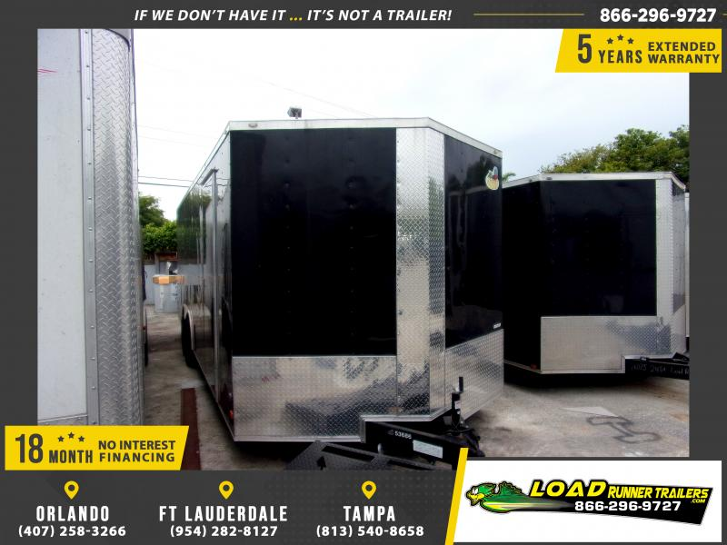 *112385* 8.5x24 Enclosed Cargo Trailer |LRT Tandem Axle Trailers 8.5 x 24
