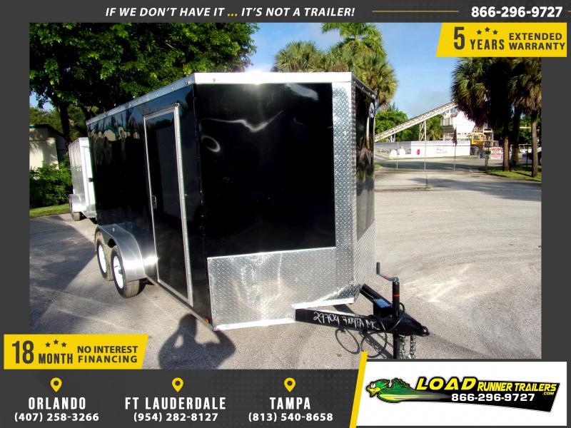 *117544* 7x14 Enclosed Cargo Trailer |LRT Tandem Axle Trailers 7 x 14