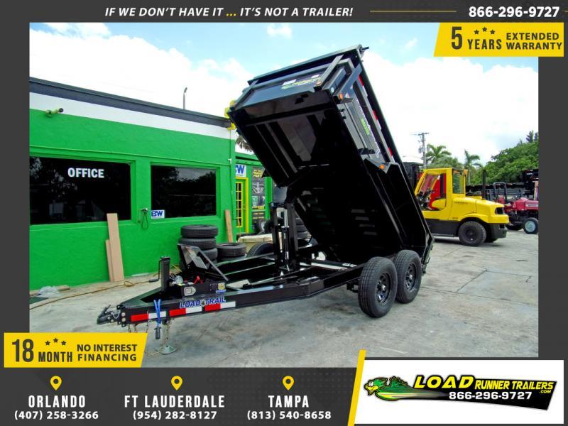 *DB70* 6x12 Dump Trailer |LRT Tandem Axle Trailers 6 x 12 | D72-12T5-24S