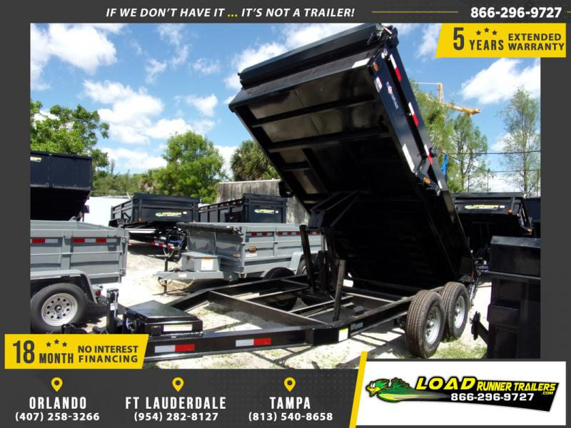 *108556* 7x14 7 TON Dump Trailer  LRT Trailers 7 x 14