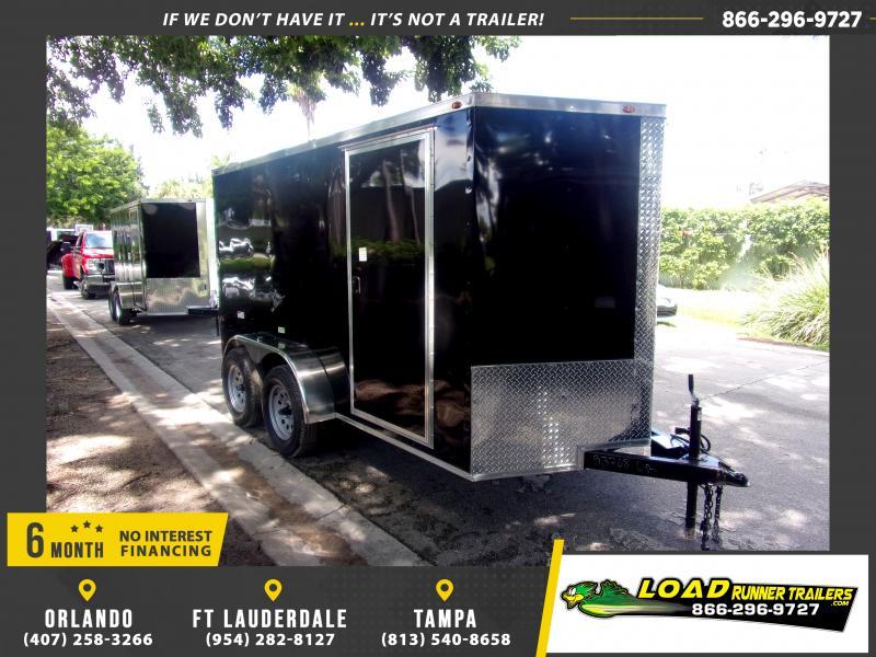 *117616* 6x12 Enclosed Cargo Trailer |LRT Tandem Axle Trailers 6 x 12