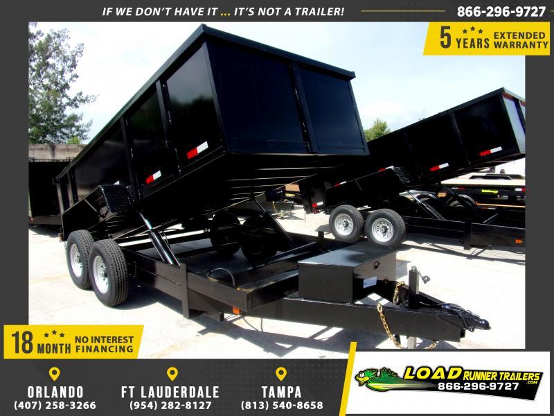 *116557* 7x14 Dump Trailer  LRT Tandem Axle Trailers 7 x 14