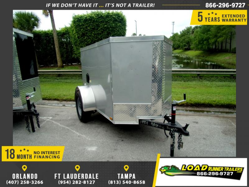 *109852* 4x6 Enclosed Cargo Trailer  LRT Haulers & Trailers 4 x 6