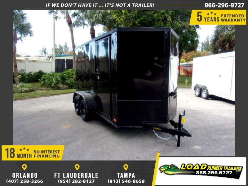 *116671* 6x12 Enclosed Cargo Trailer  LRT Tandem Axle Trailers 6 x 12