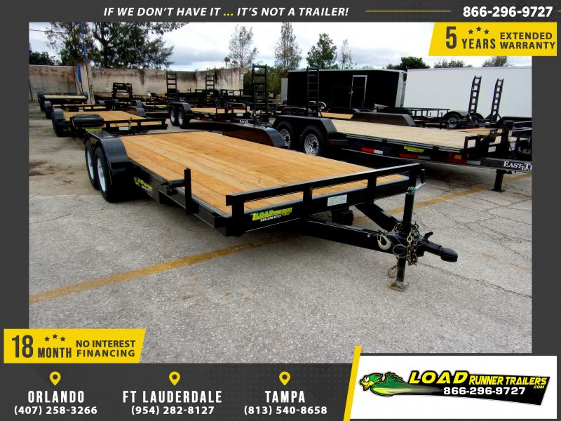 *112258* 7x18 Car Trailer |LRT Tandem Axle Trailers 7 x 18