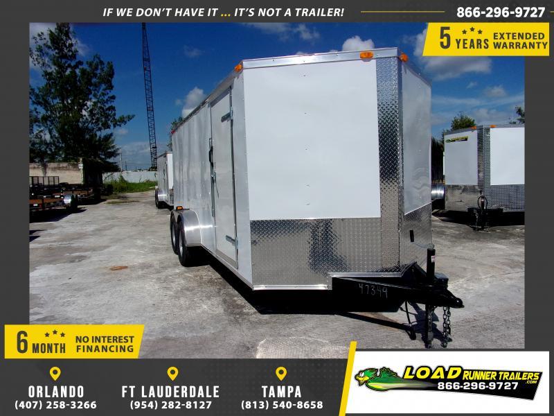 *115706* 7x16 Enclosed Cargo Trailer  LRT Tandem Axle Trailers 7 x 16