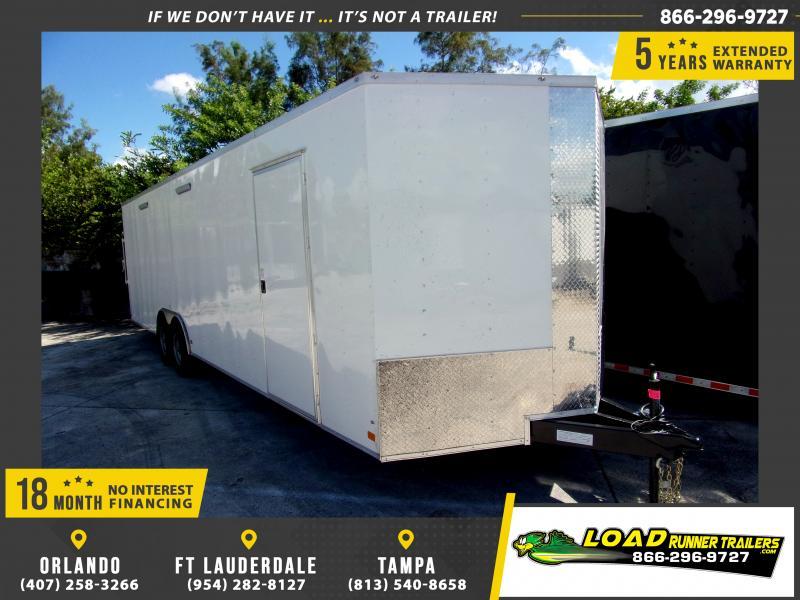*117714* 8.5x28 Enclosed Cargo Trailer |LRT Tandem Axle Trailers 8.5 x 28