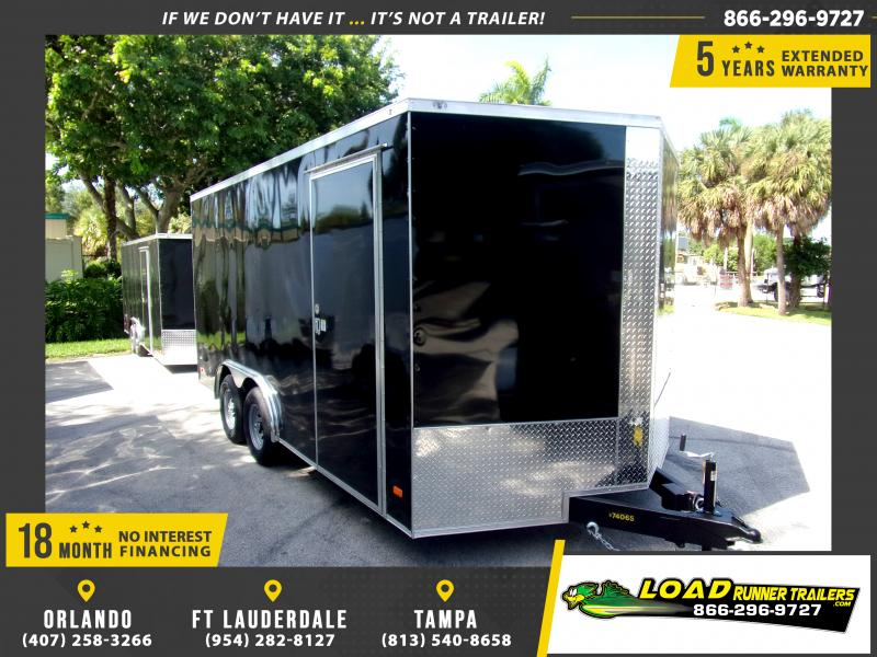 *117982* 8.5x16 Enclosed Cargo Trailer |LRT Tandem Axle Trailers 8.5 x 16