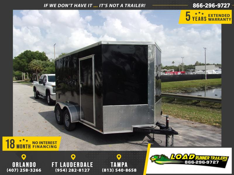*114671* 7x12 Enclosed Cargo Trailer |LRT Tandem Axle Trailers 7 x 12