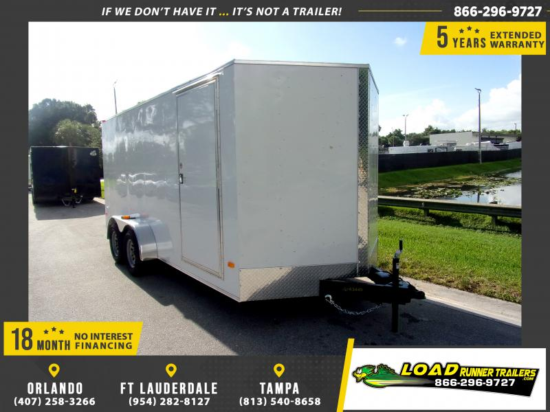*114571* 7x16 Enclosed Cargo Trailer |LRT Tandem Axle Trailers 7 x 16