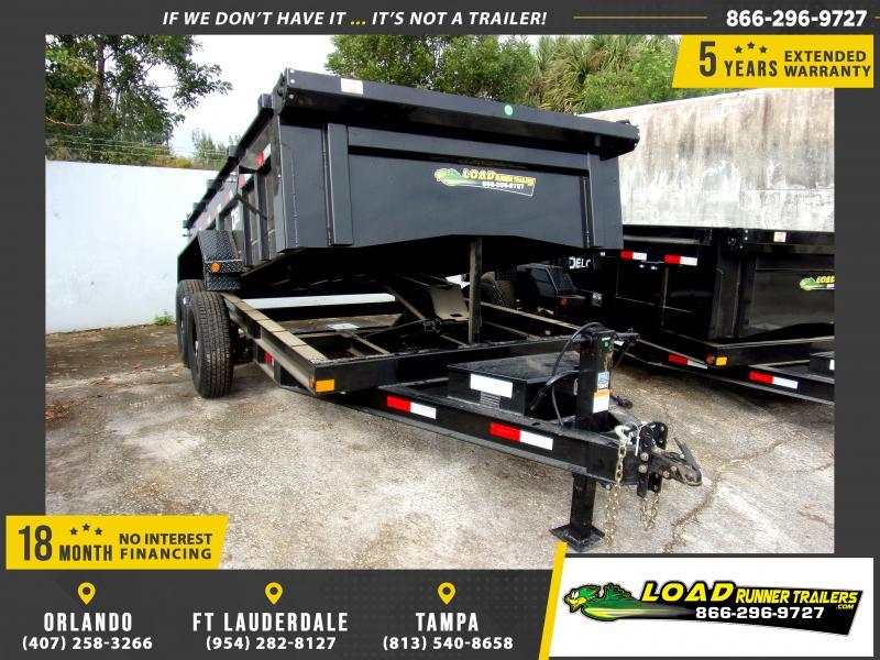 *113748* 7x12 Dump Trailer |LRT Tandem Axle Trailers 7 x 12