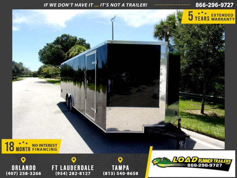 *110922* 8.5x24 Enclosed Cargo Trailer |LRT Tandem Axle Trailers 8.5 x 24