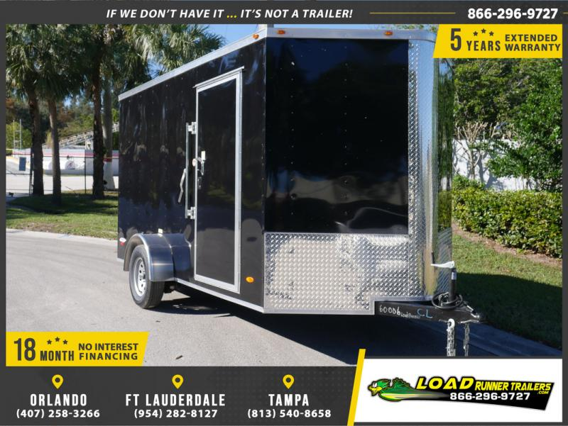 *E5C* 6x12 Enclosed Cargo Trailer Box Covered 6 x 12 | EV6-12T3-R