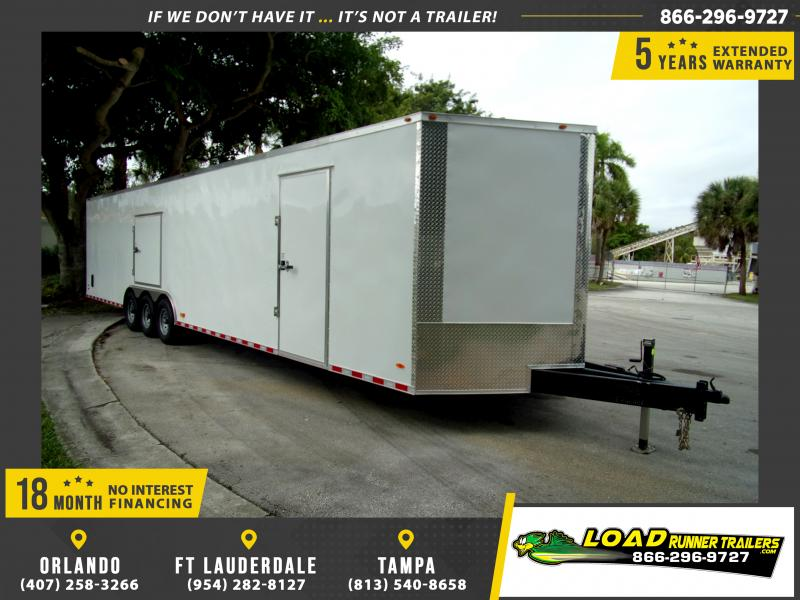 *112957* 8.5x36 Enclosed Cargo Trailer |LRT Tandem Axle Trailers 8.5 x 36