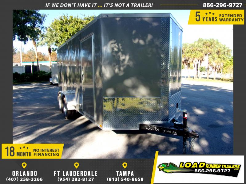 *113302* 7x16 Enclosed Cargo Trailer |LRT Tandem Axle Trailers 7 x 16