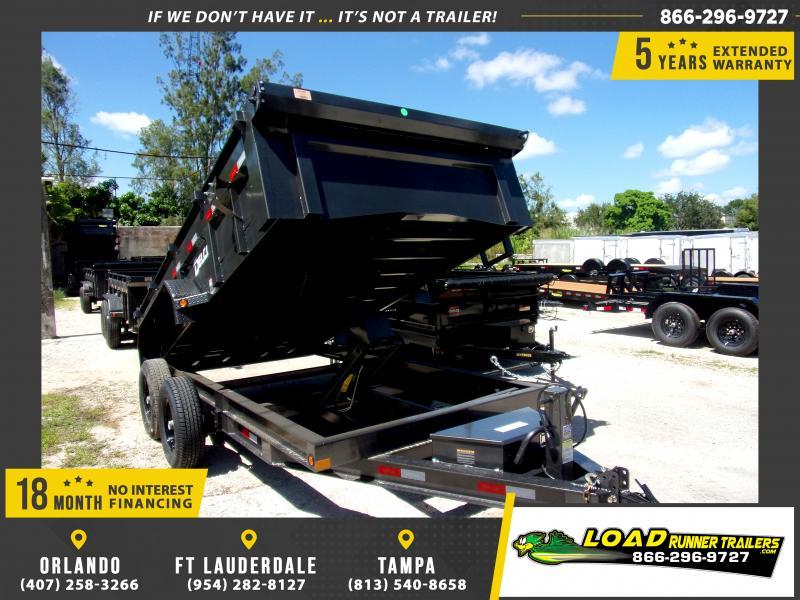 *116424* 7x14 Dump Trailer  LRT Tandem Axle Trailers 7 x 14