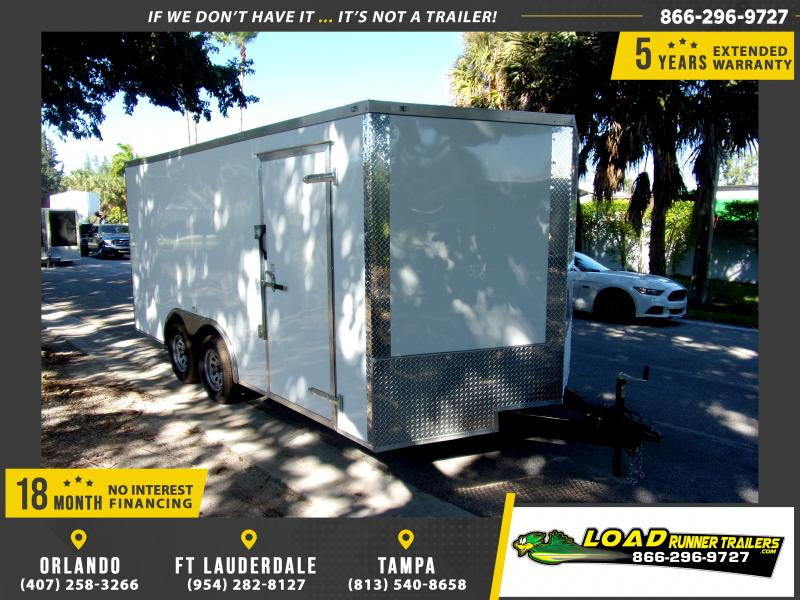 *112683* 8.5x16 Enclosed Cargo Trailer |LRT Tandem Axle Trailers 8.5 x 16
