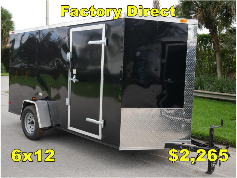 *FD07* 6x12 FACTORY DIRECT!| Enclosed Cargo Trailer |Trailers 6 x 12