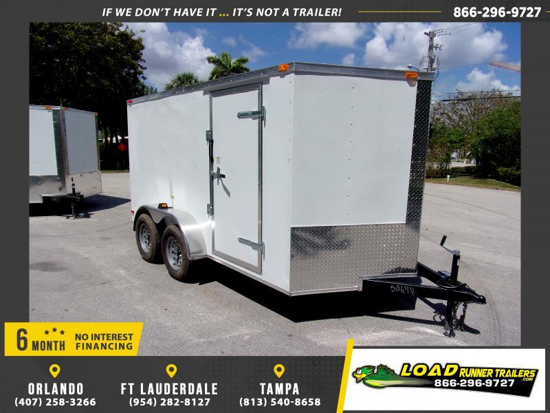 *114405* 7x12 Enclosed Cargo Trailer  LRT Tandem Axle Trailers 7 x 12