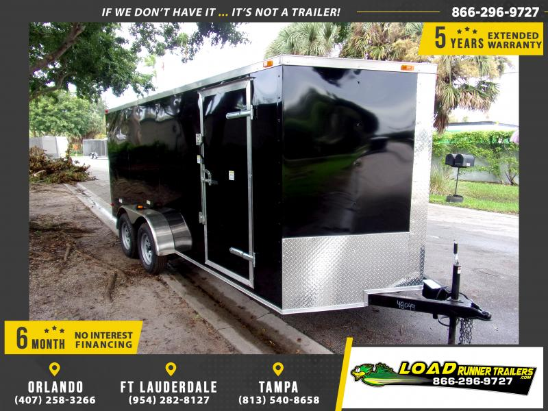 *112393* 7x16 Enclosed Cargo Trailer |LRT Tandem Axle Trailers 7 x 16