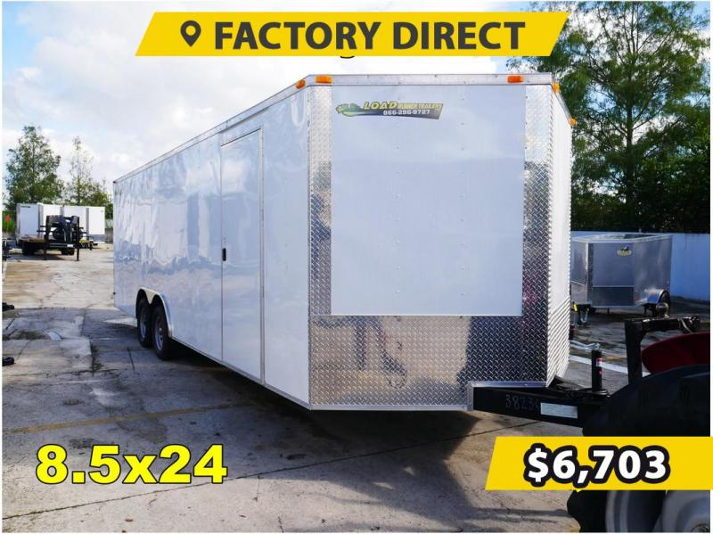 *FD824T3* 8.5x24 FACTORY DIRECT! Enclosed Cargo Trailer 8.5 x 24